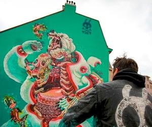 Gigantic Mural by Artist Nychos in Vienna/Austria