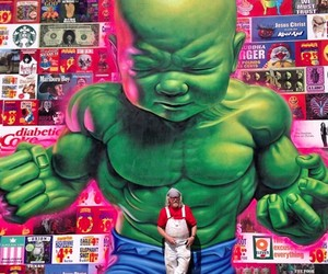 Baby Hulk Mural by Ron English in New York City
