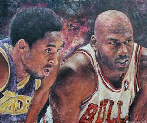 Portrait Paintings Inspired by Music & Sports