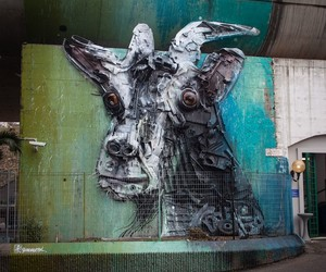 Trash-Mural by Artist Bordalo II in Rome/Italy