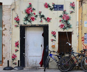 Floral Cross-Stitch Street Installations in Madrid