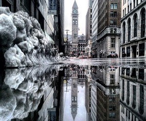 Parallel Worlds Of Puddles In Toronto