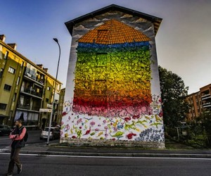 """A House for Everyone"" by Artist Blu in Italy"