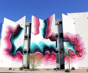 3D-Mural by German Streetartist 1010 in Las Vegas