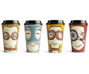 TAKE AWAY COFFEE CUPS BY BACKBONE BRANDING FOR GAW