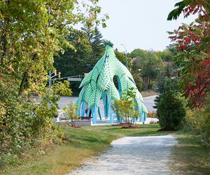 Pine Sanctuary Pavilion by Marc Fornes/THEVERYMANY