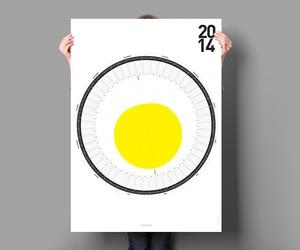 The Circular Calendar for 2014 by Sören Lachnit