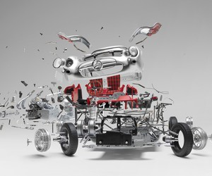 Exploded Sports Cars by Fabien Oefner