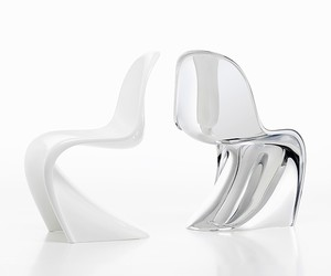 Vitra Panton Chair in Chrome and Glow