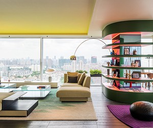 Colorful Apartment in Shanghai by Ippolito Fleitz