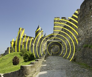 Eccentric Concentric by Felice Varini, Carcassonne