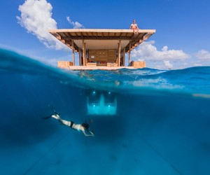 The Manta Resort's Underwater Room opens Off Pemba