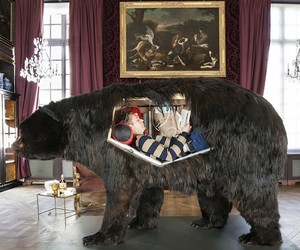 French Artist Lived Inside a Bear for Two Weeks
