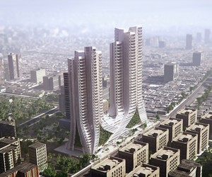 Grove Towers in Mumbai by 3XN