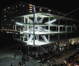 Jun Ong's Five-Storey Star Lighting Installation