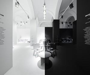 nendo designs Black & White space for Marsotto