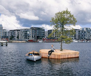 Artificial Island Create New Floating Public Space