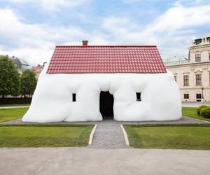 Erwin Wurm's Fat House Installed in Vienna