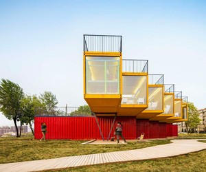 Containers Stack Pavilion by People's Architecture