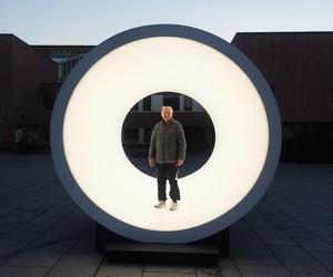 Terminal light sculpture by Karolina Halatek
