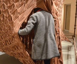 """NEON walk through sculpture """"SKIN"""""""