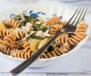 Radish Green and Artichoke Pasta