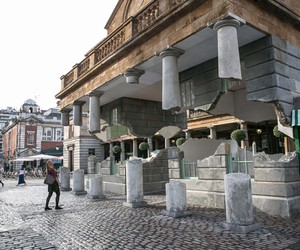 Alex Chinneck's new hovering installation