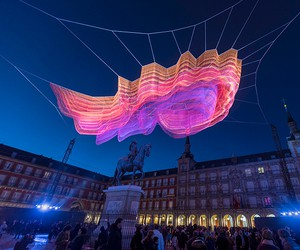 Janet Echelman's '1.78 Madrid' Thread Sculpture