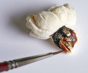 """Artsnacks"" - Miniature Paintings on Popcorn"
