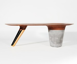 Two-Legged CS1 Coffee + Side Tables by Astfrei