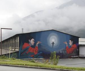 """""""Balance"""" - Mural by Street Artist Artez"""