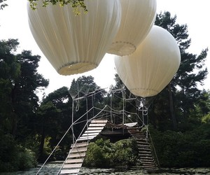 Balloon Suspended Bridge in the UK