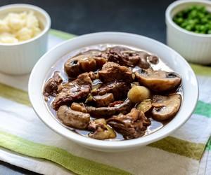 Beef, Leeks and Mushroom Stew