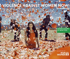 END VIOLENCE AGAINST WOMEN BY BENETTON AND THE UN