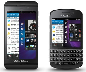 The new BlackBerry Z10 and BlackBerry Q10