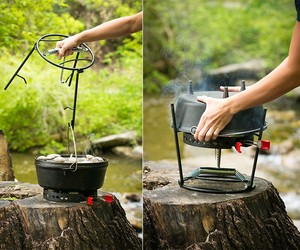 CampMaid Grill & Smoker for Camping/ Outdoor Cooki