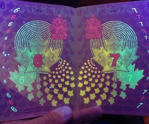 Hidden Images under UV Light in Canadas Passports