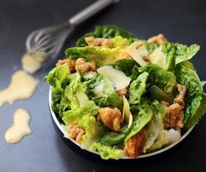 Ceasar Salad with Popcorn Chicken