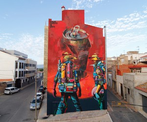 """""""Cosmos Juice"""" – Mural by Deih & Emilio Cerezo"""