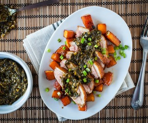 Crispy Duck Breast with Ramp Chimichurri