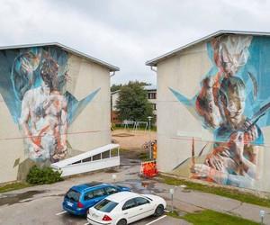 Impressive Double-Mural by Vesod in Finland