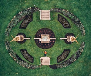Symmetric Top-Down Photographs