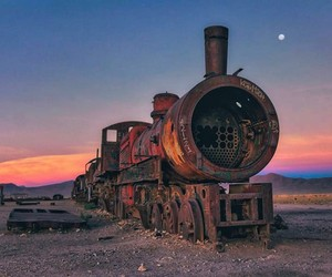 Cemetery of Abandoned Trains in Bolivia