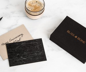 LEATHER + FABRIC STATIONARY BY BLISS & BONE