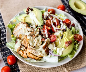 Honey Mustard Chicken Bacon Avocado Salad
