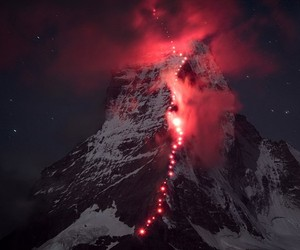Hundreds Of Mountaineers Climb The Matterhorn Ridg