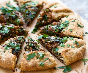 Spinach Galette With Wild Mushrooms