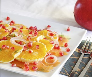 salmon, Orange & Pomegranate Salad
