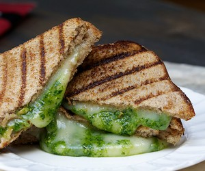 Spinach Pesto and Mozzarella Panini