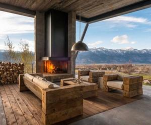 beautiful modern mountain house